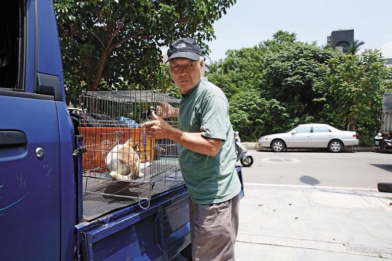 採訪當天,魏德松從竹東出發到北埔載狗,送到竹北的動物醫院結紮,結紮完再把狗送回北埔,然後回家。一路上天氣炎熱,他細心用多層木板加黑紗布為狗隔熱。