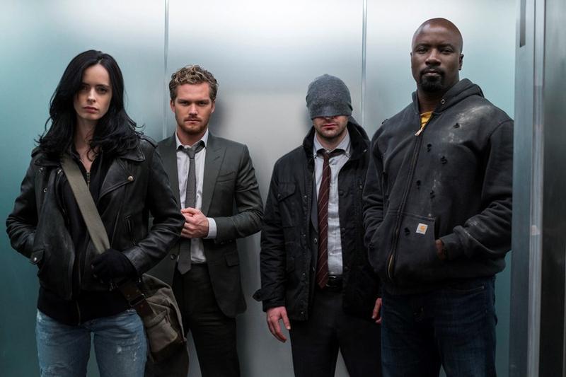 潔西卡瓊斯、鐵拳俠、夜魔俠、盧克凱吉在《漫威捍衛者聯盟》一起對抗反派邪惡勢力。