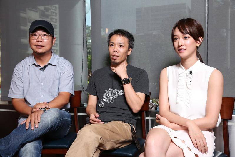 導演洪伯豪(左起)、蕭力修及演員孟耿如,暢談《麻醉2》拍攝的辛苦過程。