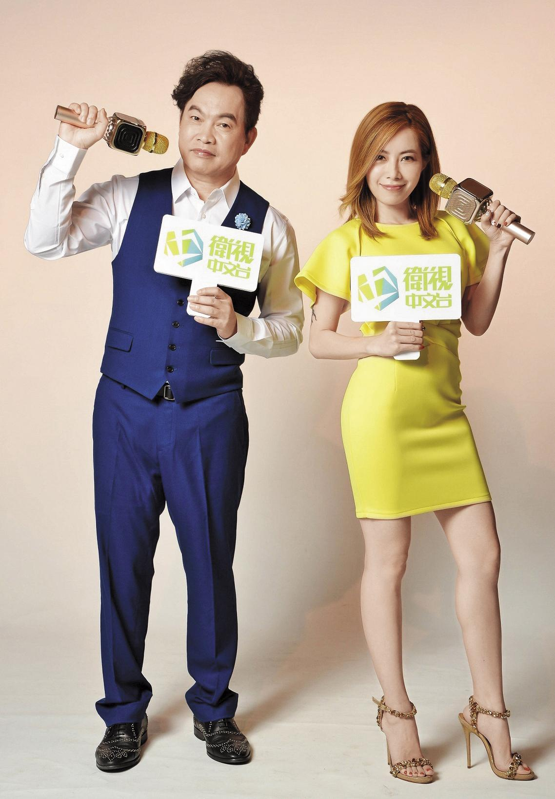 衛視中文台《歌神請上車》第二季找來主持新貴徐懷鈺及康康(左)搭檔,希望創出收視佳績。(衛視中文台提供)