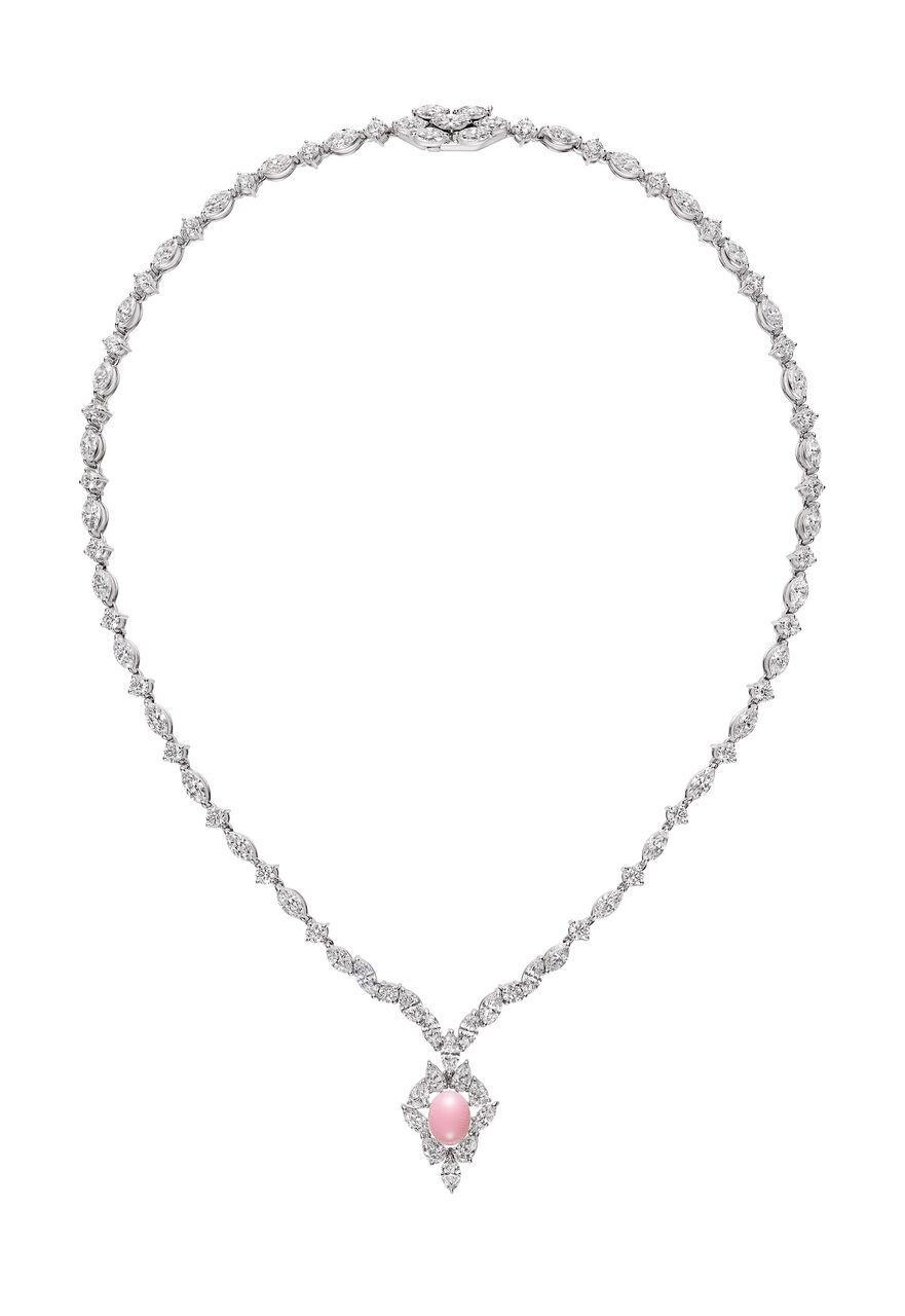 MIKIMOTO 頂級珠寶孔克真珠粉紅剛玉鑽石戒指。NT$2,180,000