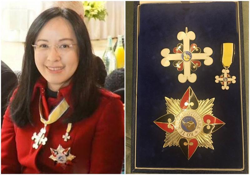 原住民立委陳瑩獲頒二級紐西蘭毛利皇室勳章。