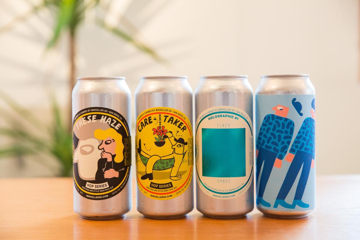 米凱樂啤酒吧歡慶週年,特自美國聖地牙哥冷藏空運來台三款新英格蘭IPA風格啤酒,加碼一款重酒花的柚子啤酒。(左一、二:269元/罐,右一、二:239元/罐)