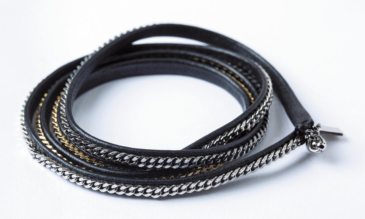 VITA FEDE三色金屬纏繞手鍊。NT$9,000