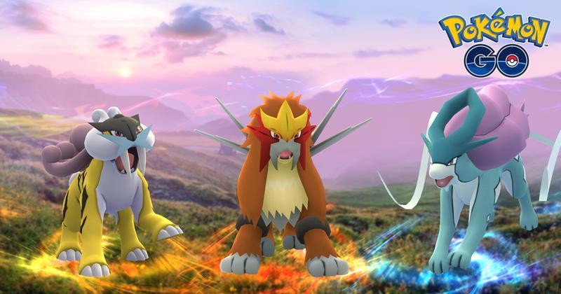 《寶可夢GO》三神獸水君、雷公、炎帝今天將正式登場,訓練師們準備好了嗎?(圖片來源:Pokomon GO官方)