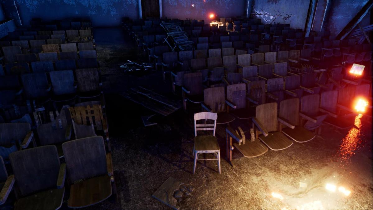 遊戲裡瑞芳戲院的場景。