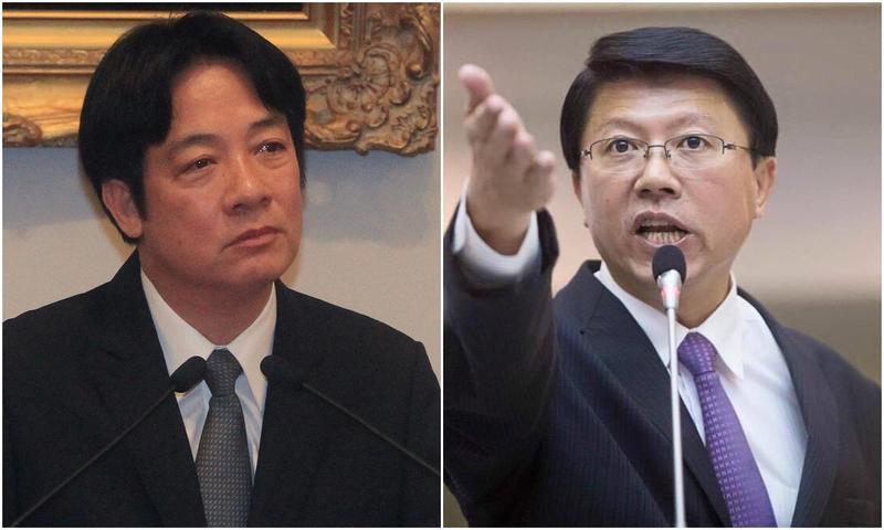 台南好戰友謝龍介(右)為即將接任閣揆的賴清德(左)獻上祝福。(圖右取自謝龍介臉書)