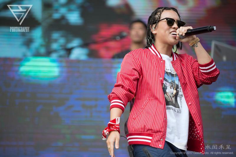 葛仲珊參加成都MDSK嘻哈音樂節。