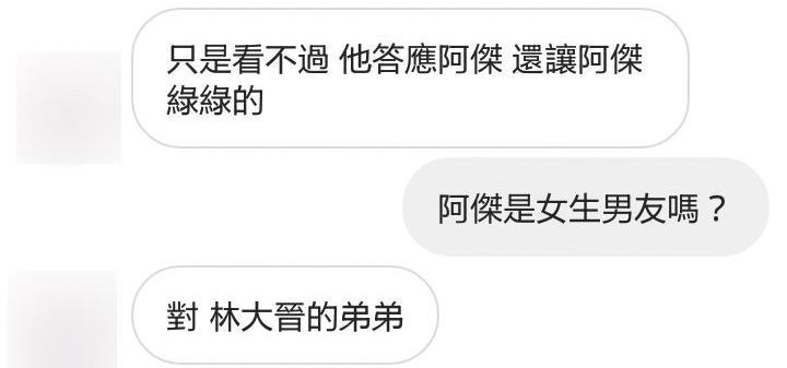 爆料者透露,林匯喬明明答應求婚,卻私下和阿翔偷情,事發後讓未婚夫傷透心。(讀者提供)