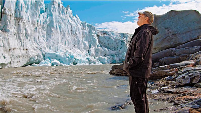 高爾再度造訪格林蘭,觀察北極冰川的融化程度,發現比以前更嚴重。