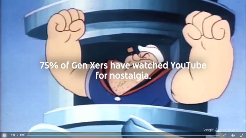 YouTube 宣傳自家廣告,主打 X 世代觀眾的廣告業主。(影片截圖)