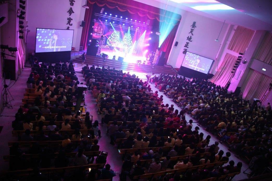 《中國新歌聲》去年在景美女中舉辦時很轟動,現場滿座。(翻攝自中國新歌聲台灣行臉書)