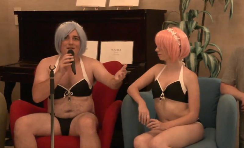 帕肥的成人/Hentai VR 泳池派對,談成人 VR 產業現況。(直播截圖)