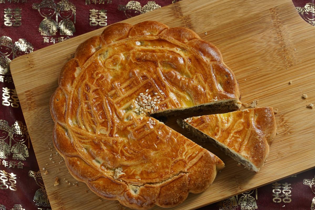 「舊永瑞珍」的傳統囍餅,是老台南人風光嫁女兒要送餅時的首選。