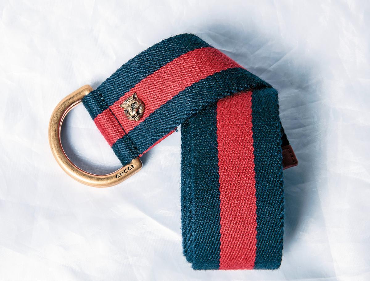 GUCCI獅子造型腰帶。約NT$10,000