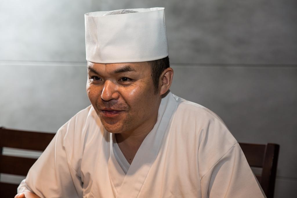 日本橋玉井台灣店料理長石川博樹,店開幕前就飛來台灣試做研發菜色。