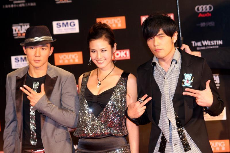 劉畊宏(左起)、王婉霏夫妻,和周杰倫是深交多年的好友。(東方IC)