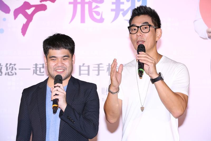 任賢齊和黃裕翔出席愛盲公益活動。