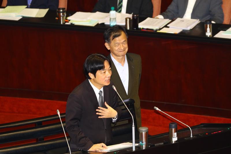 行政院長賴清德到立法院備詢。