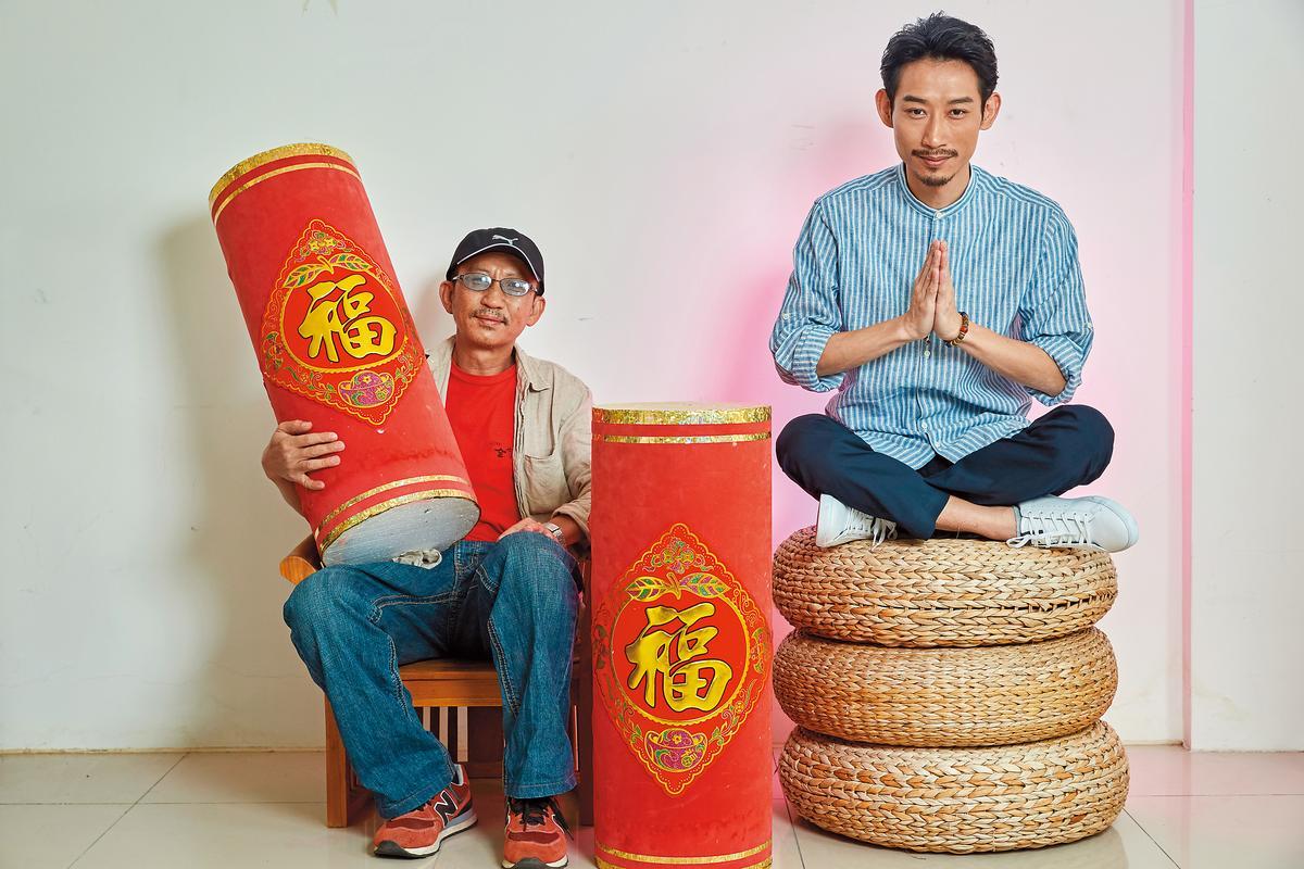 《大佛普拉斯》的兩位男主角陳竹昇(右)與莊益增(左)一動一靜,角色也是一個機伶一個憨厚,有強大反差,也很能互補。