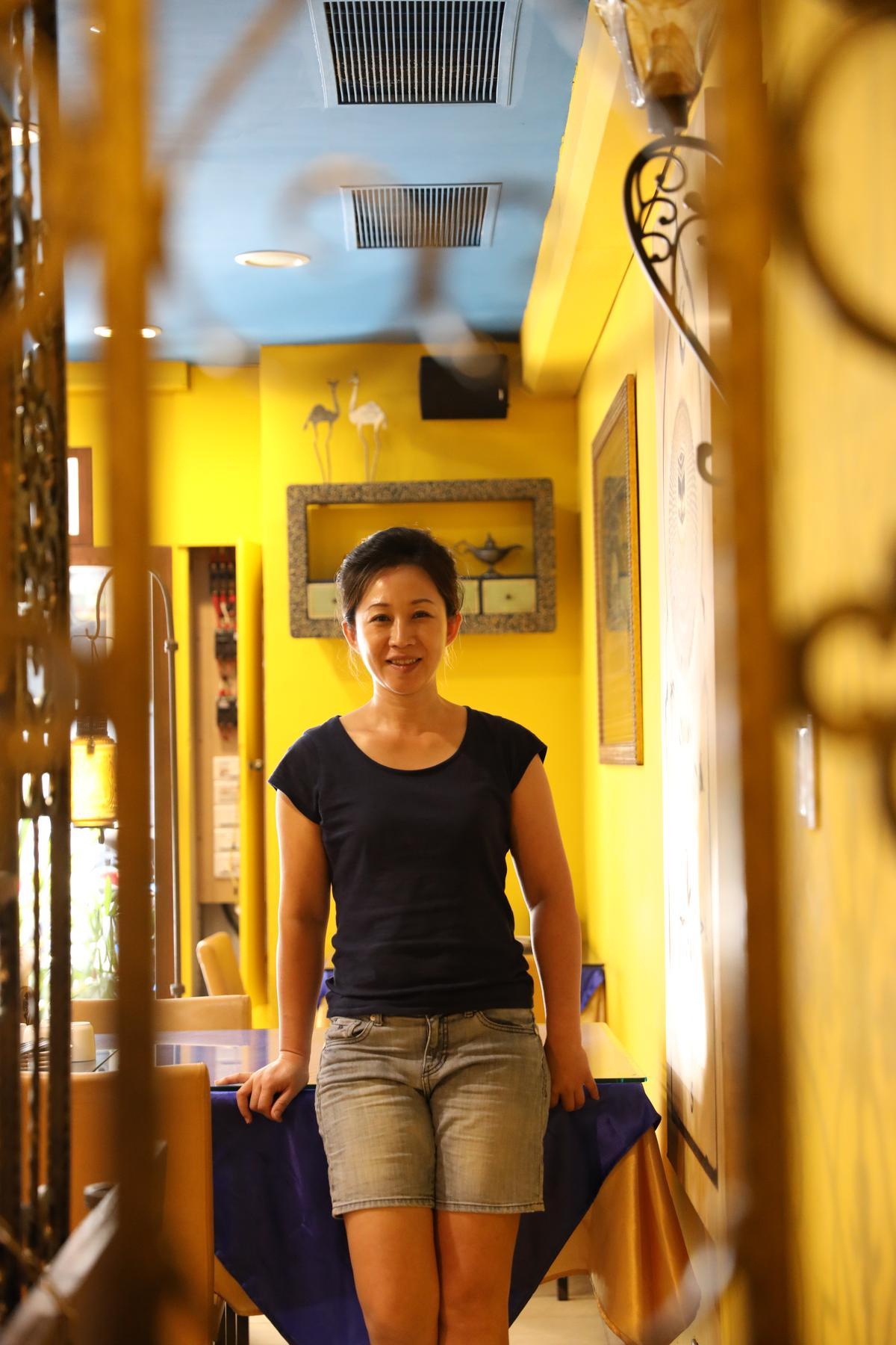 老闆娘李海蓉嫁來台灣多年,性格如寧夏菜般明快爽朗。