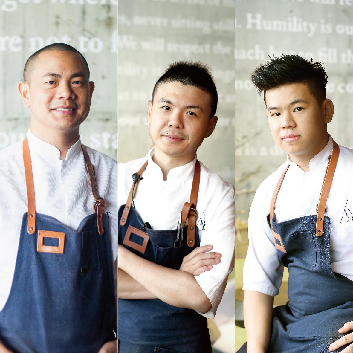 RAW由三位主廚(左至右)江振誠、黃以倫、陳將停共同打造。