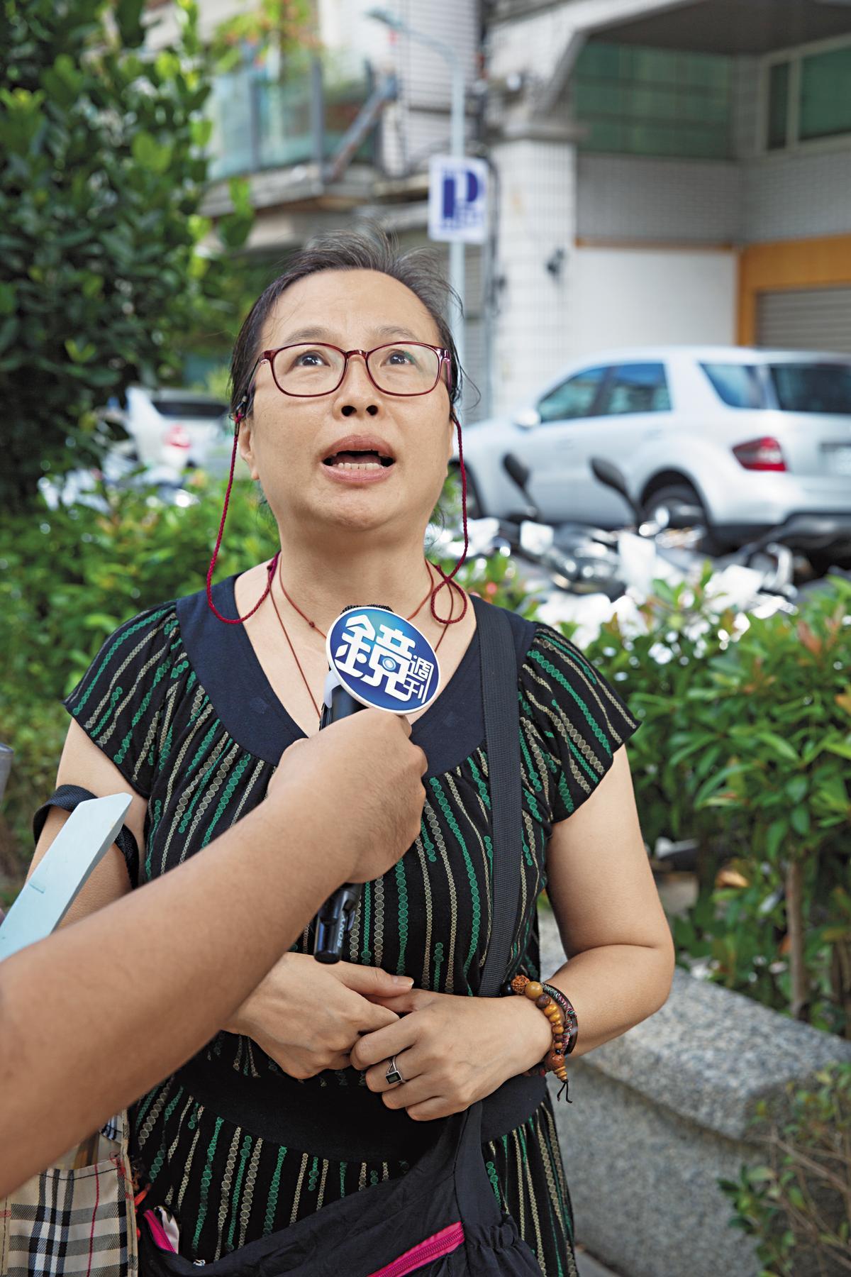 58歲劉女士表示,真的讓我很驚訝,這棟建物有賣場,也有客家活動中心,很令人擔心!希望市府想辦法改善,讓大家有個安全的生活空間。