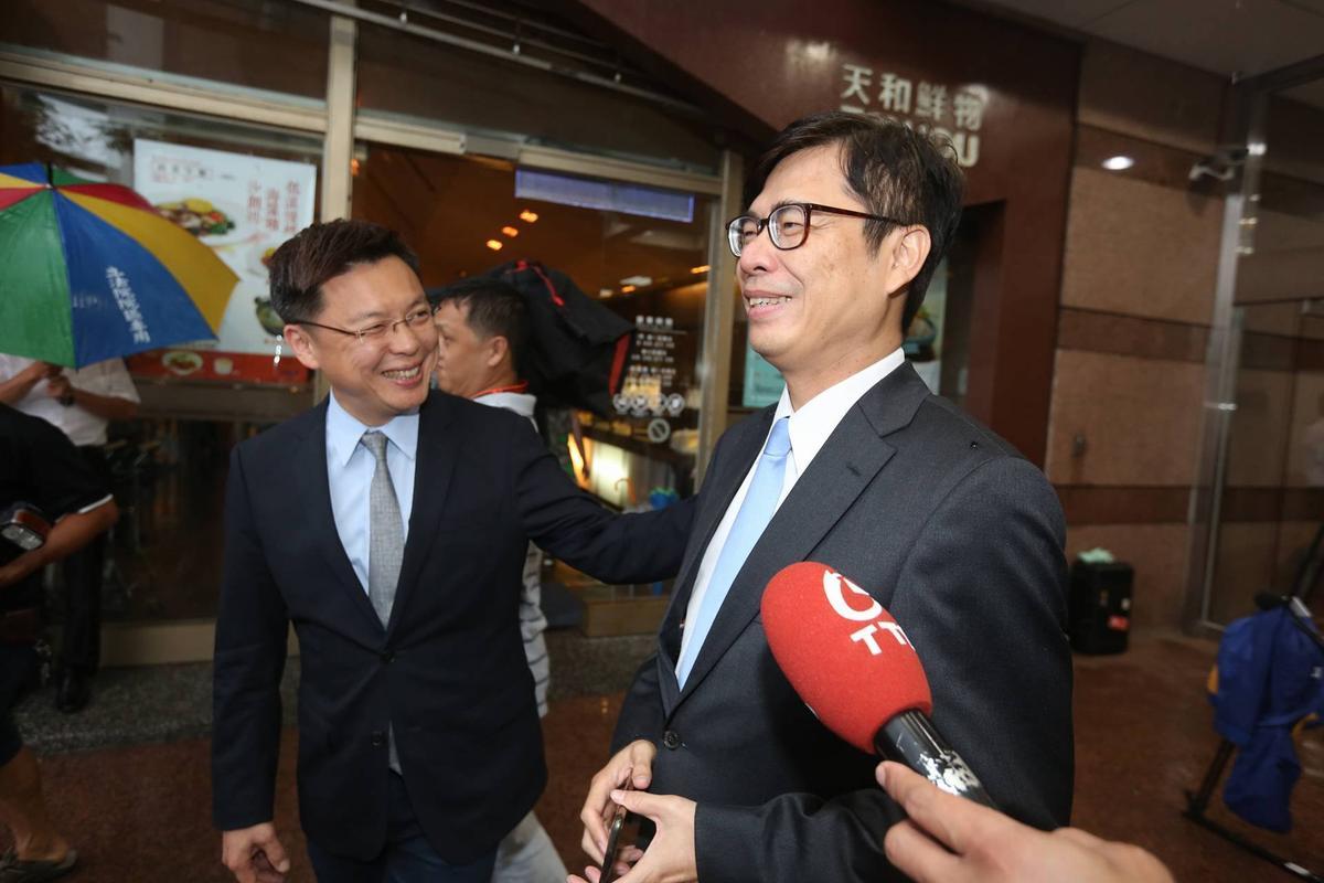 有意爭取民進黨高雄市長提名的立委趙天麟(左)、陳其邁(右)。