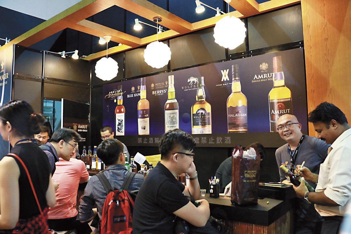 這些年來,烈酒商參展的比例也逐步提升。