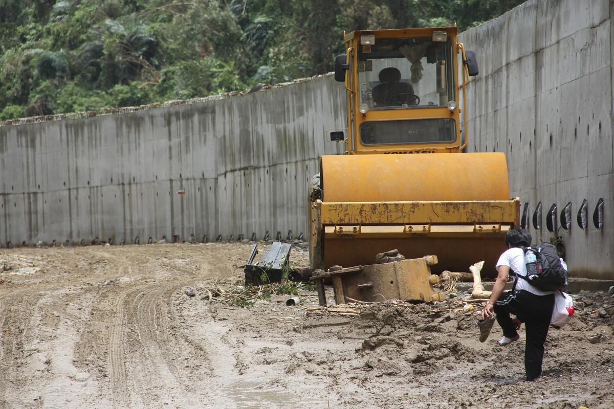 當年受到蘇迪勒颱風重創,烏來努力的做好災後整理。