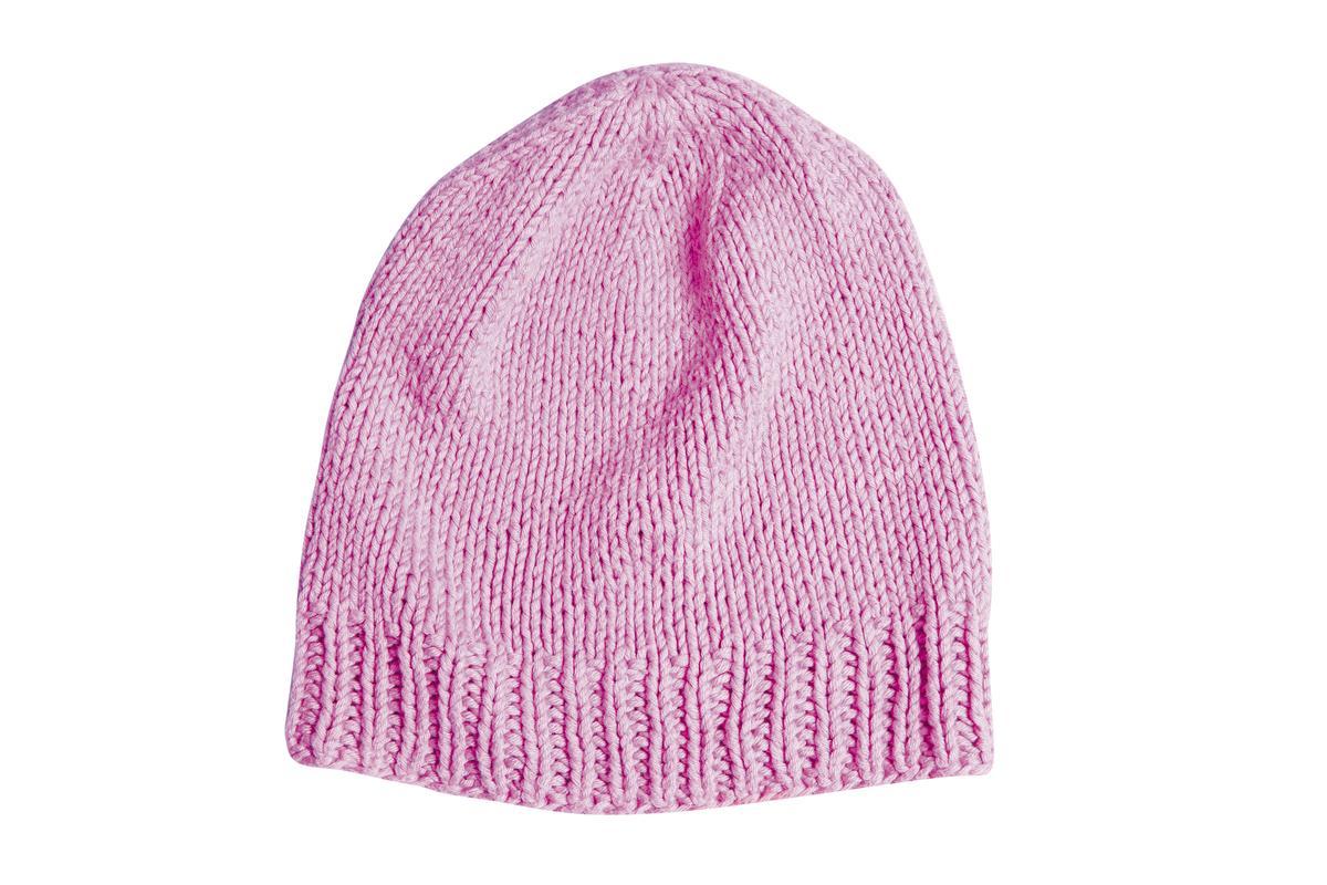 泰國買的桃紅色針織帽子。約NT$300