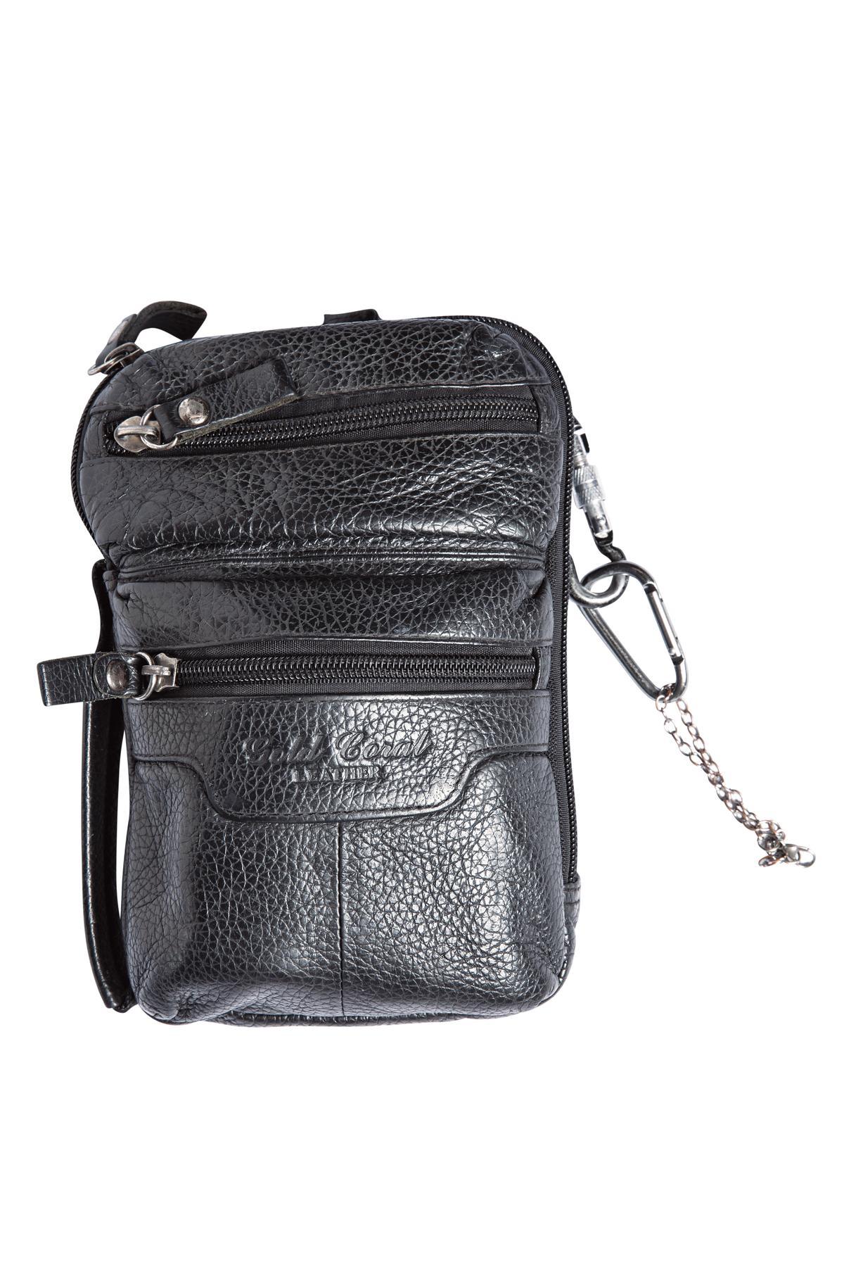 北京小店買的黑色腰包。約NT$1,600