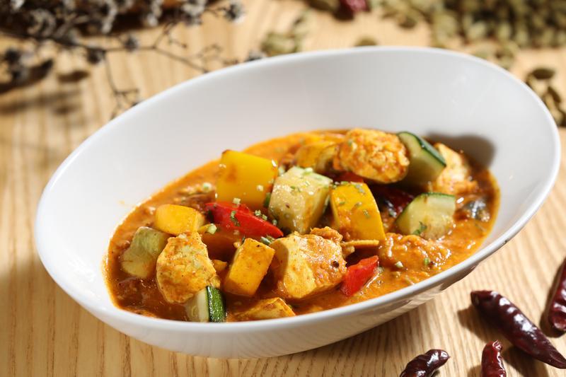 「臭豆腐逗扁豆節瓜」是有濃濃台味的印度咖哩,展現老闆Joseph的無限創意。