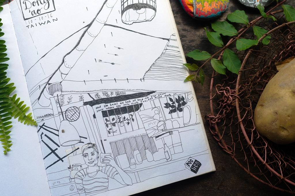 住過的朋友把屋子畫成插畫。