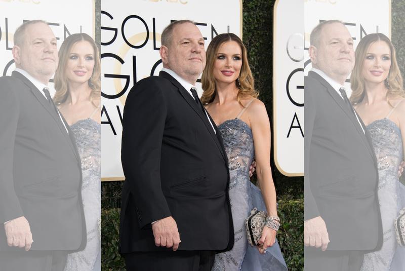 萊塢金牌製片哈維韋恩斯坦(左)在醜聞爆發後,設計師妻子喬吉娜查普曼也訴請離婚。 (好萊塢外籍記者協會提供)