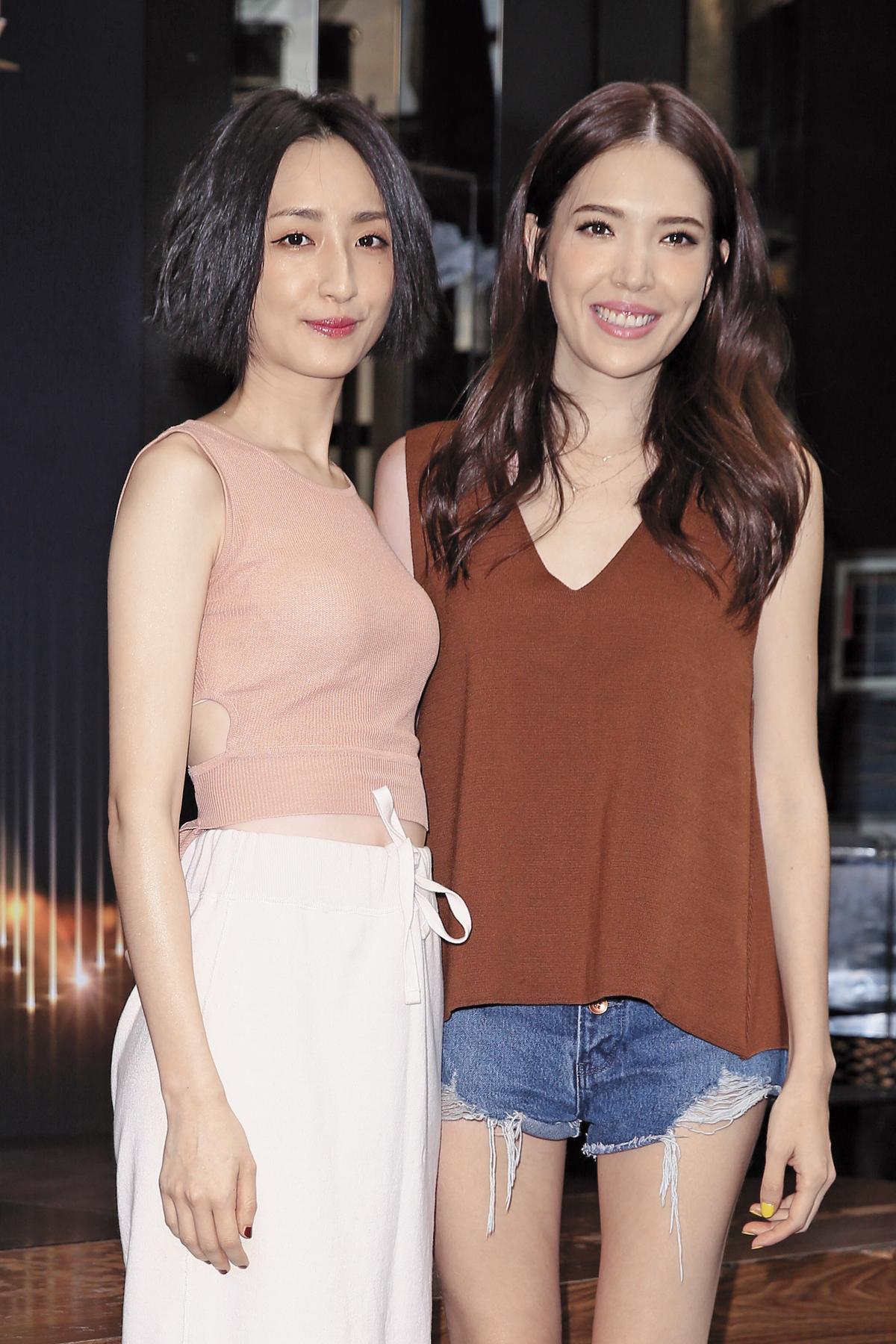 妙的是,許瑋甯(右)跟柯佳嬿(左)後來也合作過,因為王柏傑也成了一下緋聞表姐妹。