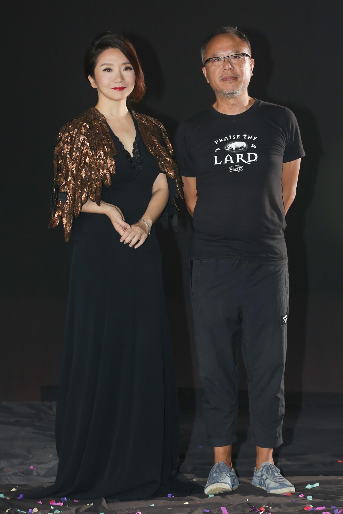 鍾孟宏與陶晶瑩合作愉快,在這次拍攝後,鍾孟宏更答應若陶晶瑩執導演筒,他就來幫她攝影。(陳仁萱攝)