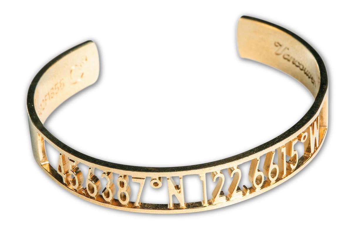 緯度手環,約NT$1,300