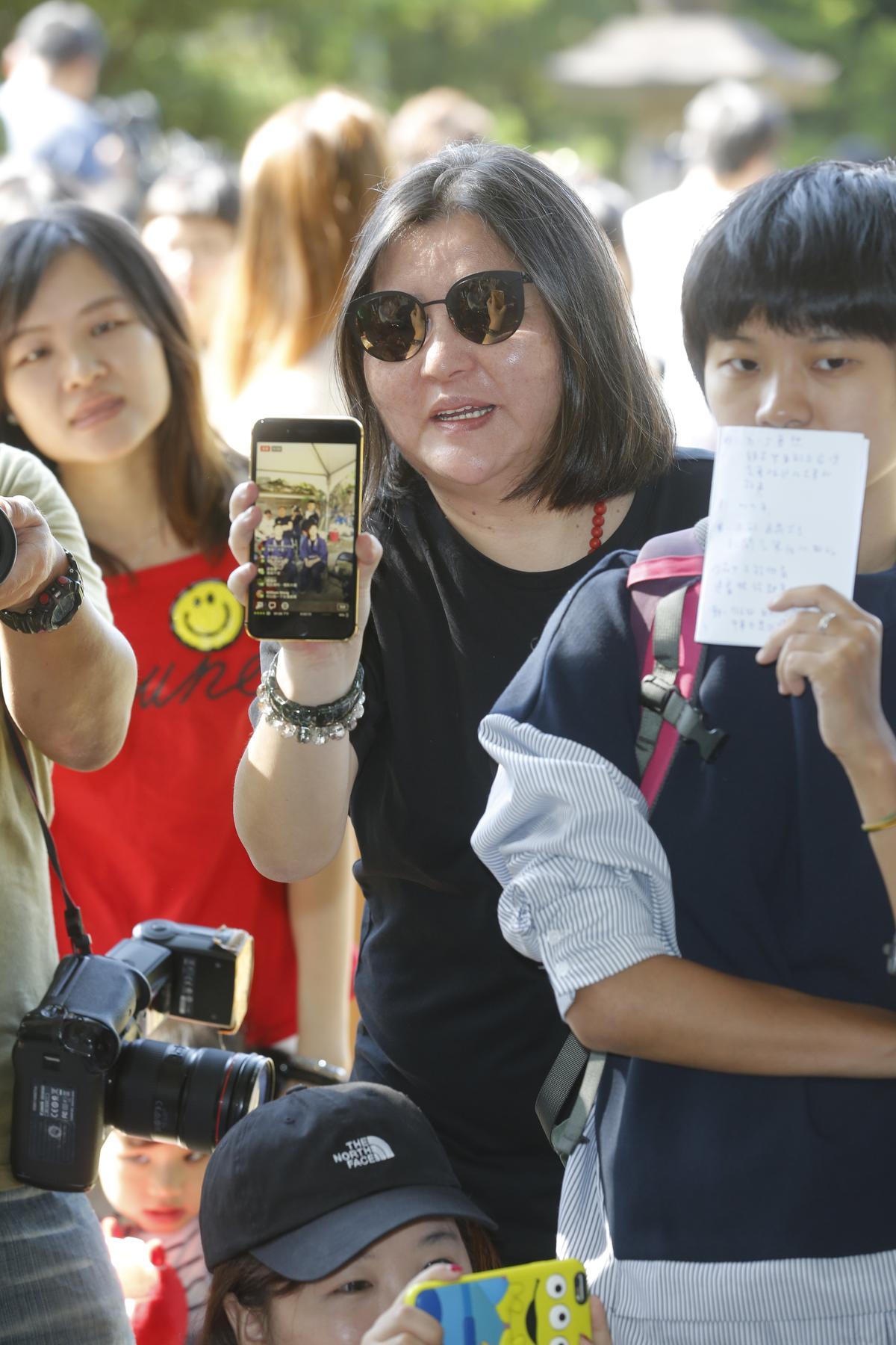 娛樂圈大姐大邱瓈寬也以投資者的身分在現場坐鎮。
