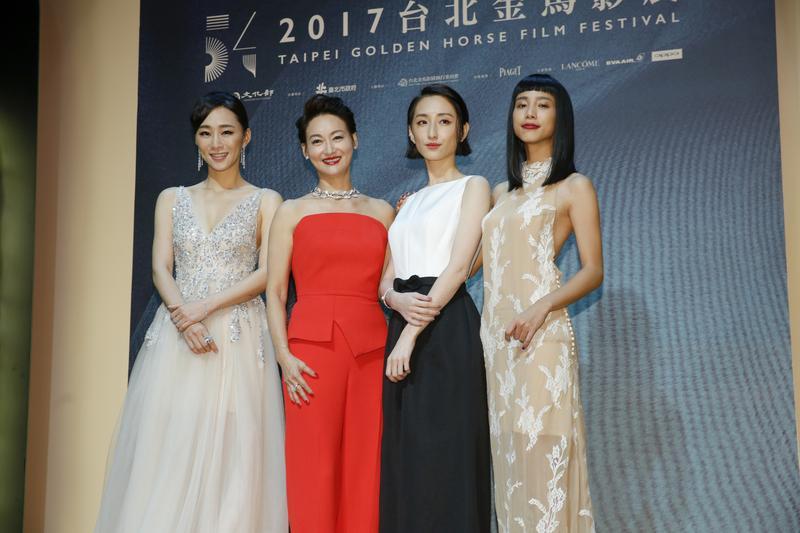 吳可熙、惠英紅、柯佳嬿、溫貞菱,四美穿得美美一起為金馬開幕。