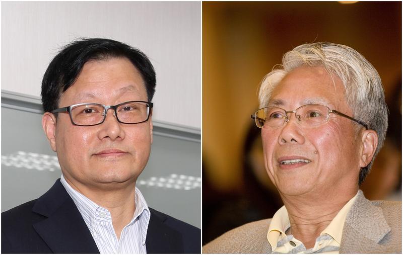 張高祥(左)和林陳海(右)同是神祕地產大亨,被業界形容為金庸筆下的倚天劍和屠龍刀,誰也不輸誰。