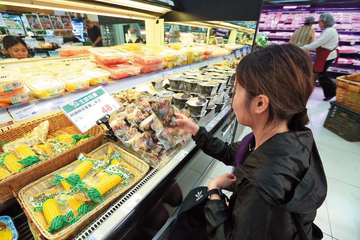 福記銷售以超市和賣場通路為主,其中阿薩姆茶葉蛋在全聯銷量頗佳。 (48元/6顆)