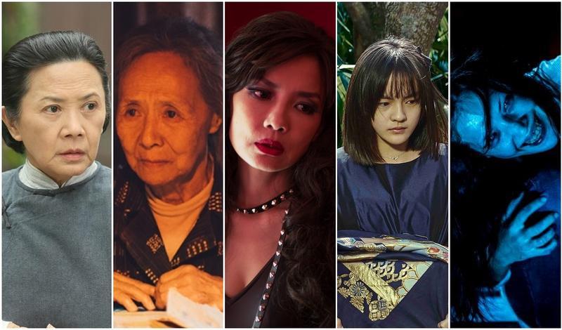 今年最佳女配角獎堪稱死亡之組。(左起:葉德嫻、吳彥姝、陳湘琪、文淇、許瑋甯。)