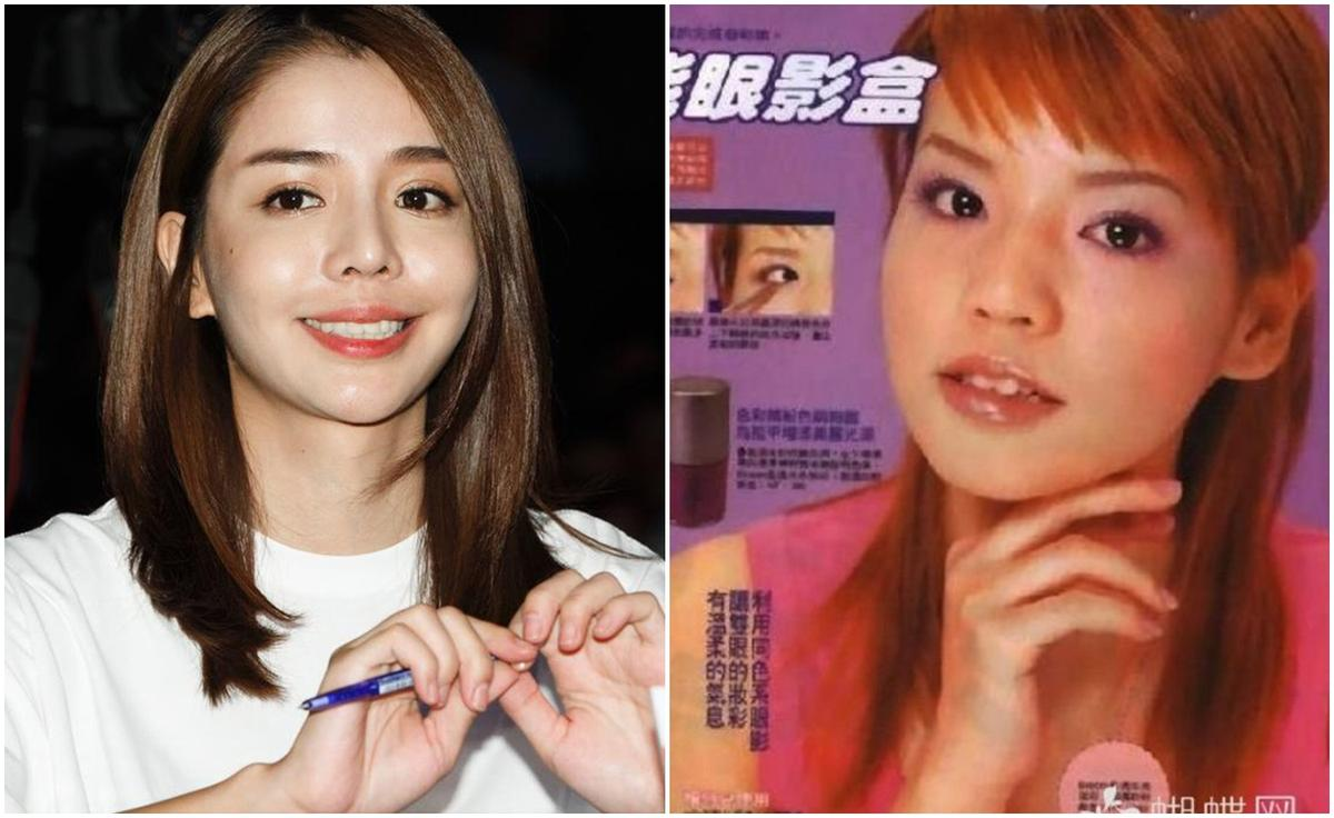 李毓芬18歲就踏入平面模特兒行業(圖右),當時臉圓鼻塌,以Dream Girls出道時,還多了演員身分,外形也越變越美(圖左)。