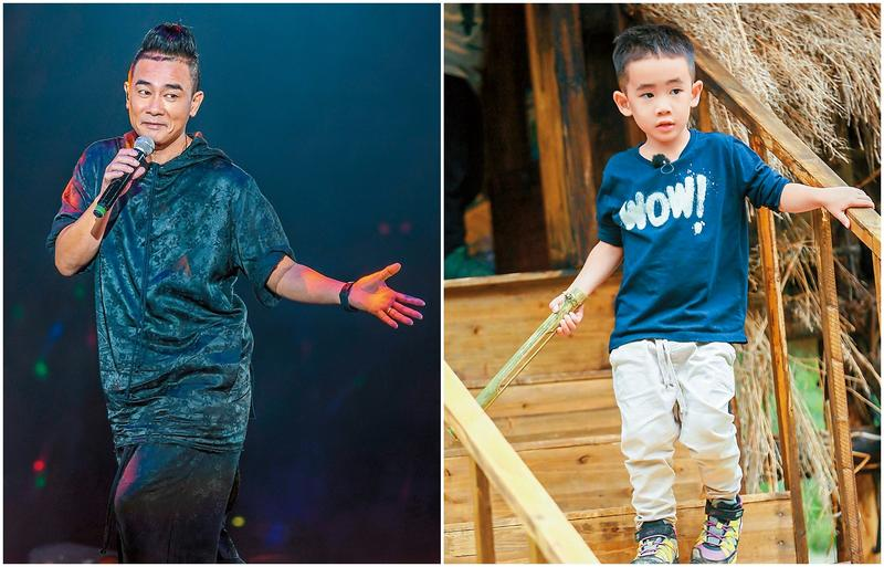 陳小春(圖左)因《爸爸去哪兒》大翻紅,商演、廣告接不停(東方IC)。4歲的小小春Jasper在《爸爸去哪兒》呆懵的樣子十分療癒(圖右),在節目裡亦表現出可愛性格,比爸爸陳小春更受歡迎。
