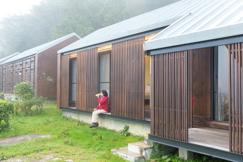 太平山莊9月改建營運的「扁柏小屋」,讓人更接近大自然。