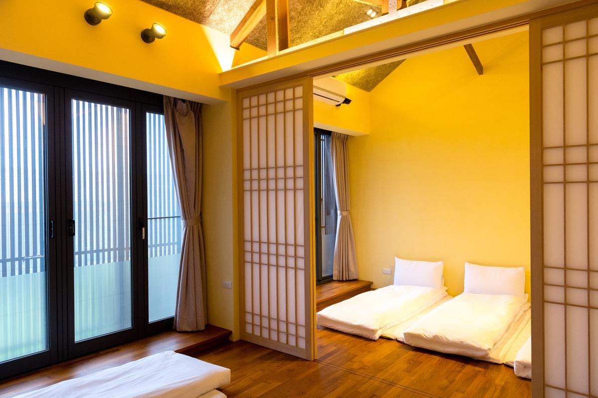 「扁柏小屋」4人團體房,簡約舒適。
