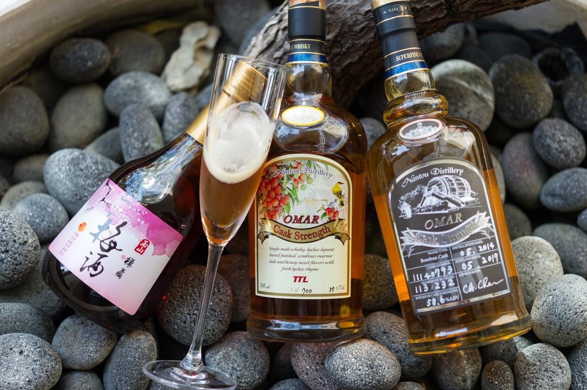 餐會席間能品嘗入菜或調酒的「南投酒廠」梅酒、威士忌。