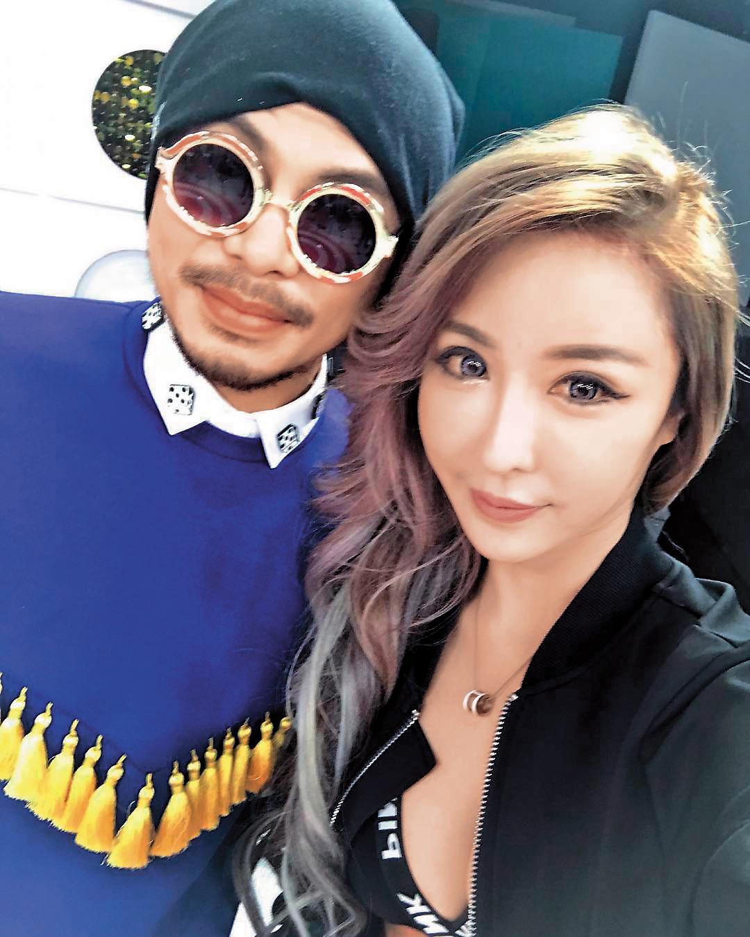 大馬歌手黃明志(左)看中雪碧(右),找她來當自己的MV女主角,雪碧也豪邁在他的作品中全裸演出。(翻攝自雪碧IG)