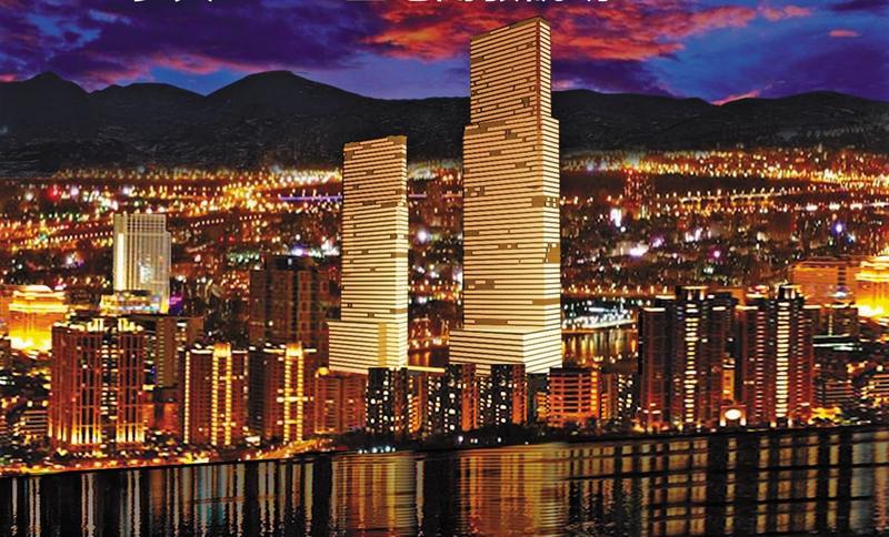 雙子星大樓的設計概念象徵國家門戶的意象,未來可望成為台北西區新地標。(北捷提供)